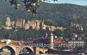 Heidelberg Germany, Deutschland Postcard River Nackar  River Nackar
