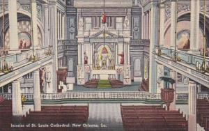 Louisiana New Orleans Interior Of St Louis Cathedral