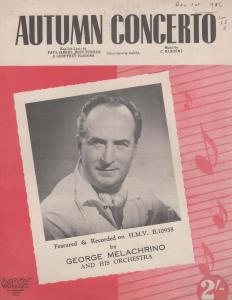 Autumn Concerto George Melachrino 1950s Sheet Music