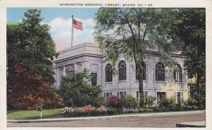 Exterior, Washington Memorial Library,Macon,Georgia,30-40s