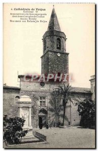 Old Postcard From Frejus Cathedral Exterior Old bishopric Monument to childre...