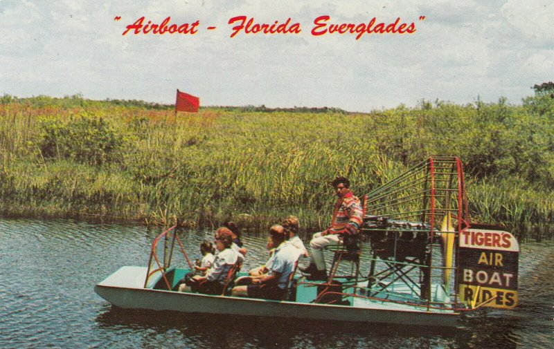 FLORIDA Everglades, 1940-60s; Tiger's Air Boat Rides