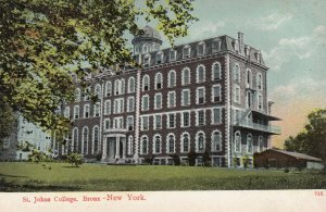 BRONX, New York, 1900-10s; St. Johns College