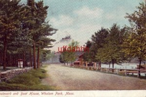 BOULEVARD AND BOAT HOUSE, WHALOM PARK, MA. 1908