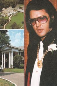 Elvis Presley Graceland Mansion Entrance & Aerial View Memphis Tennessee
