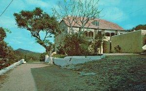 Vintage Postcard Old Nisky Mission House 1771 St. Thomas Virgin Islands