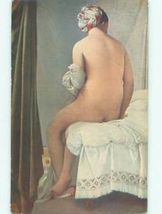 Pre-Linen Risque NUDE WOMAN TURNED AWAY AB6024