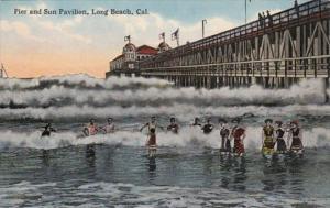 California Long Beach Pier and Sun Pavilion