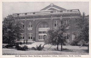 GREENSBORO, North Carolina, 1930-1950s; Odell Memorial Music Building, Greesb...