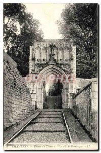 Old Postcard Chambery Entree Du Chateau St. Dominic Portal