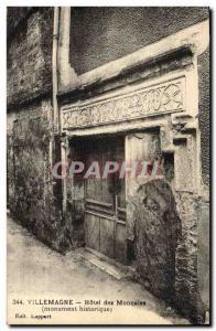 Postcard Old Bank Hotel Villemagne Coins