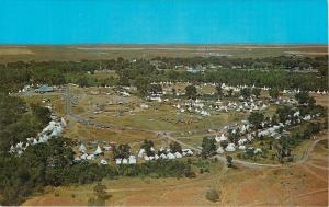 Crow Agency Montana~Aerial View: Tepee Capitol of the World~1960 Postcard