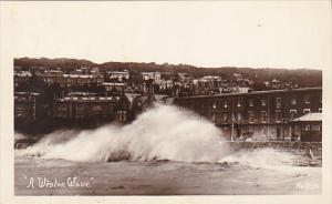 England Weston-Super-Mare A Weston Wave Real Photo