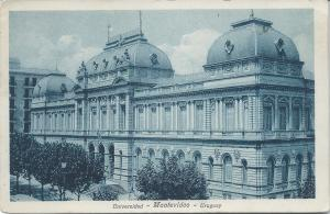 University, Montivideo, Uruguay, Early Postcard, Used in 1928