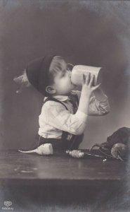 RP: Little German Boy drinking from a Stein, PU-1913