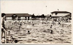 Swimming Pool Dalby Queensland Australia Murray Studios Gympie RPPC Postcard G84