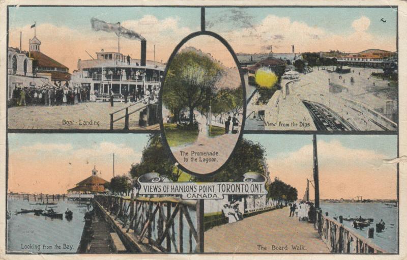 TORONTO , Ontario, PU-1920 ; 5-views of Hanlon's Point