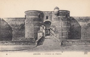 ANGERS, France,1910-1920s, L'Entree du Chateau