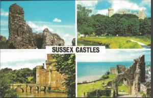 Postcard Multiview SUSSEX CASTLES by Photo Precision Ltd PLC3896