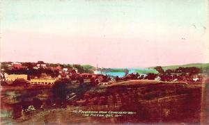 Picton Ontario Canada Panorama From Cemetery Tinted Real Photo Postcard