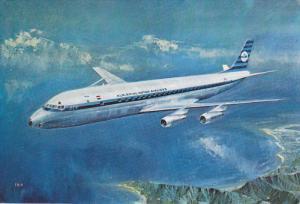 KLM Douglas DC-8 Jet Airplane , 60-70s