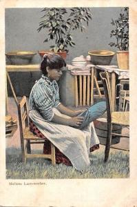 Malta Maltese Lace-worker, Postcard