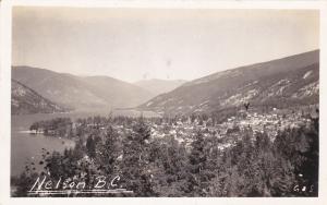 RP: NELSON, British Columbia, Canada, 1920-1940s; Bird's Eye View