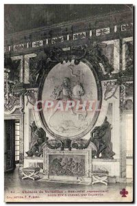 Old Postcard Chateau of Versailles Bas Relief representing Louis XIV on horse...