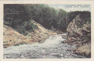 Lower Boyd's Falls, Kahshee Creek, Muskoka, Ontario, Canada, PU
