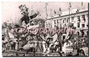 Postcard Old Nice Carnival Return Age