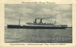 Norddeutscher Lloyd, Breman, Ship Postcard Postcards