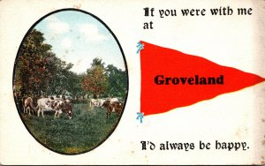New York Groveland Grazing Cattle Pennant Series