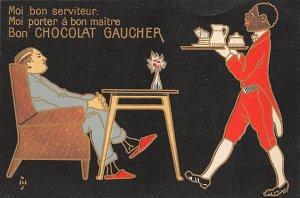 Blacks Post Card Bon Chocolat Gaucher Unused