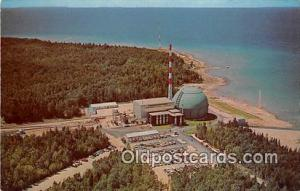 Space Postcard Charlevoix, Michigan, USA Big Rock Point Nuclear Power Plant