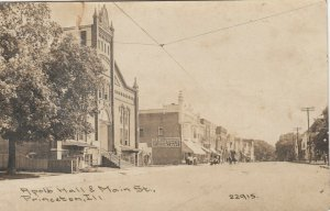 RP: Princeton , Illinois , 1912 ; Apollo Hall & Main Street ; C.R. CHILDS