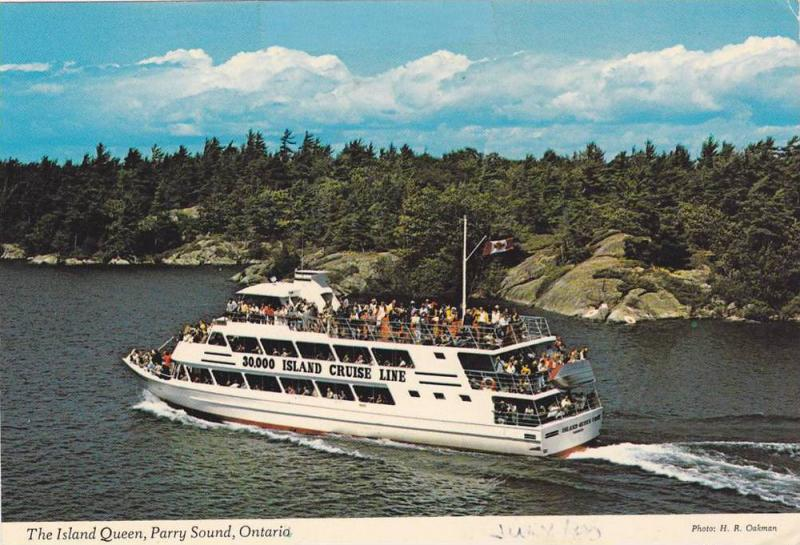 The Island Queen, 30,000 Island Cruise Line steamer , PARRY SOUND , Ontario  ...