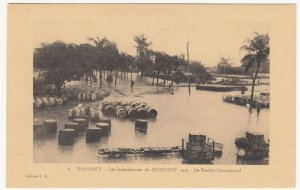 Benin; Dahomey, No 8, 1925 Cotonou Floods, Commercial Centre PPC, By ER, Unused