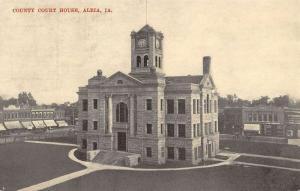 Albia Iowa Court House Birdseye View Antique Postcard K55304