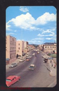 COEUR D'ALENE IDAHO DOWNTOWN SHERMAN AVENUE 1950's CARS STREET OLD POSTCARD