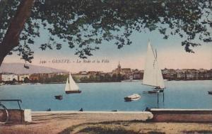 Switzerland Geneve La Rade et la Ville 1921