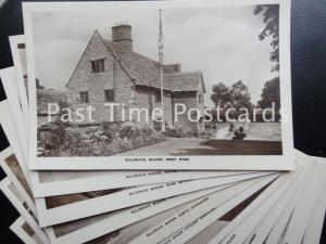 SULGRAVE MANOR Ancestral Home of George Washington USA Set of 12 PC c1930's RP