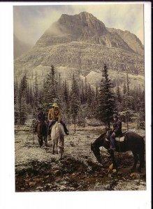 Paradise Valley on Horseback,  Calgary Alberta, Large 5 X 7 inch Postcard