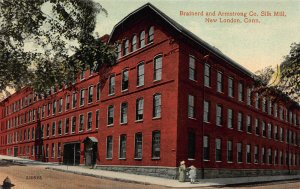 Brainerd & Armstrong Co., Silk Mill, New London, CT., Early Postcard, Unused