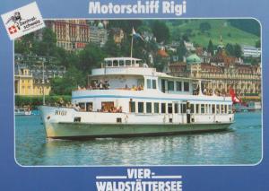 Vierwaldstattersee Motorschiff Rigi German Cruise Ship Liner Postcard