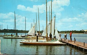 Minnesota Minneapolis Sailboating On Lake Calhoun 1963