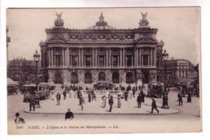 B&W People, Buses, City Station, Opera, Paris France, LL 780