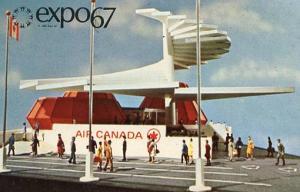 Canada - Quebec, Montreal. Expo 67 - Pavilion of Air Canada