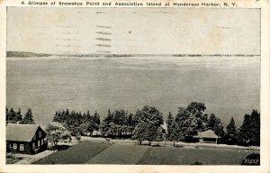 NY - Henderson Harbor. Snowshoe Point & Association Island