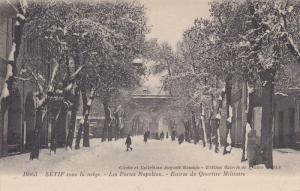 Sétif , Algeria , 00-10s : Snow , Les Portes Napoleon.-Entree du Quartier Mi...