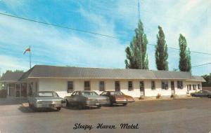 PEMBROKE, Ontario Canada    SLEEPY HAVEN MOTEL   Roadside   Chrome Postcard